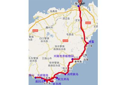 中国华南旅游景点地图