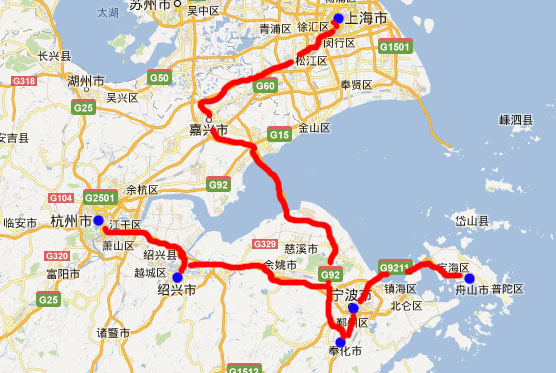 d6:浙江精华-绍兴,奉化溪口,普陀山,宁波,嘉兴南湖,上海 卧去高铁回7